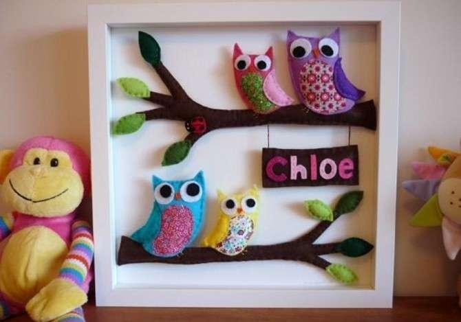 Manualidades recicladas para decorar el cuarto ecolog a hoy - Cuadros originales para bebes ...
