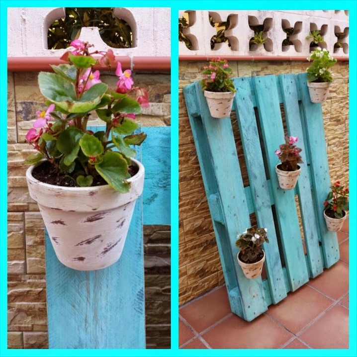 Macetas hechas con palets good maceta jardinera with - Macetas hechas con palets ...