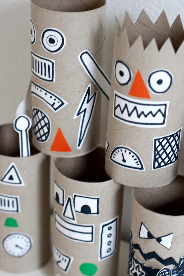 50 Manualidades Originales Hechas Con Tubos De Carton Y Rollos De - Cosas-para-hacer-de-manualidades
