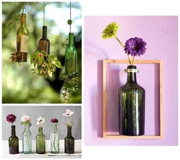 Reciclaje manualidades hechas con botellas de vidrio - Pared de vidrio ...