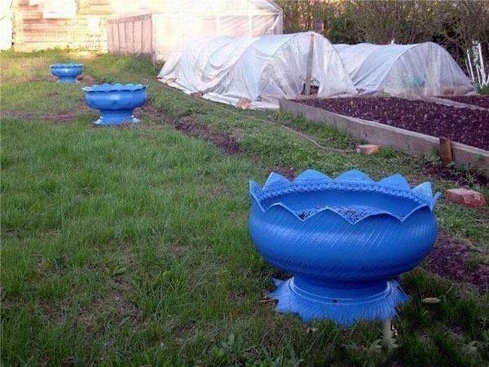 Manualidades con materiales reciclados para el jardin for Decoracion jardin reciclado
