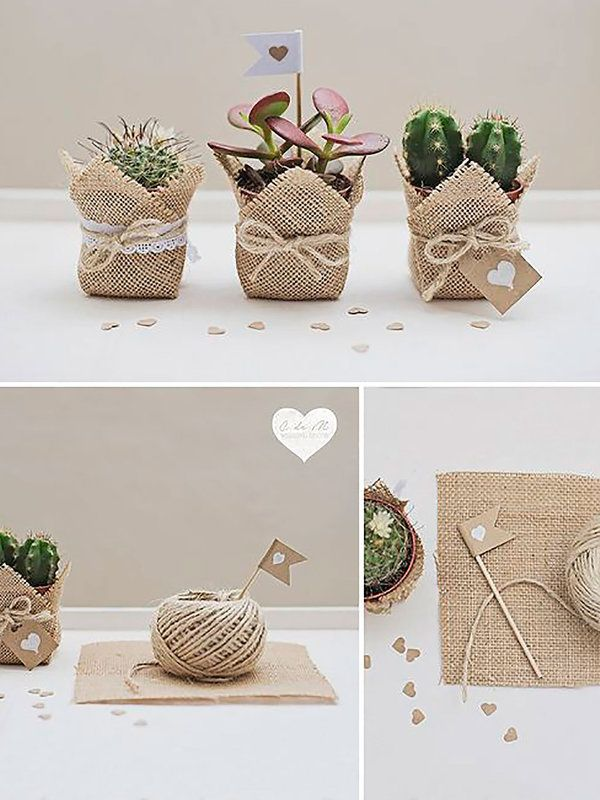 Souvenirs y detalles decorativos para una boda campestre for Como hacer adornos con plantas naturales